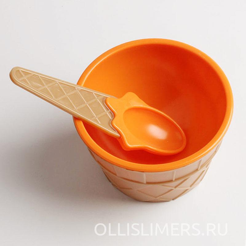 Миска для слаймов, оранжевая